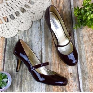 STEVE MADDEN Patent Leather Mary Jane Pump…